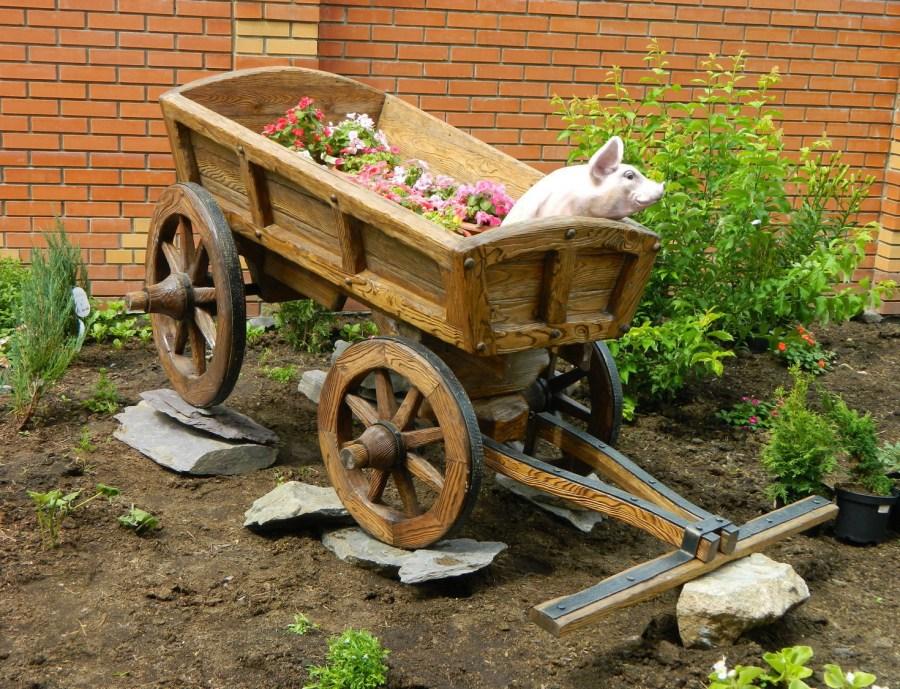 Как своими руками сделать телегу в сад 187