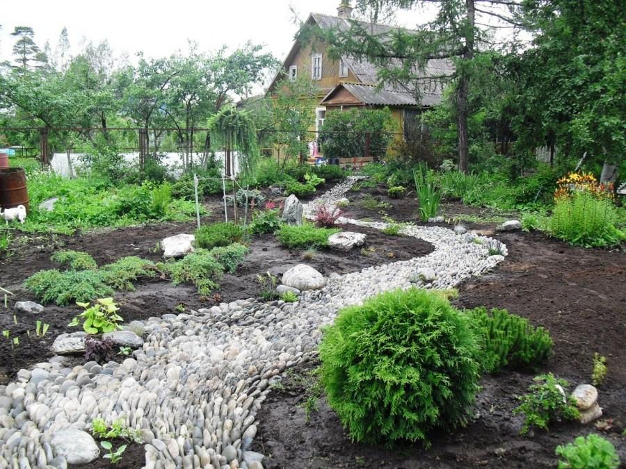 """Результат пошуку зображень за запитом """"Сухой ручей — стильное украшение сада"""""""