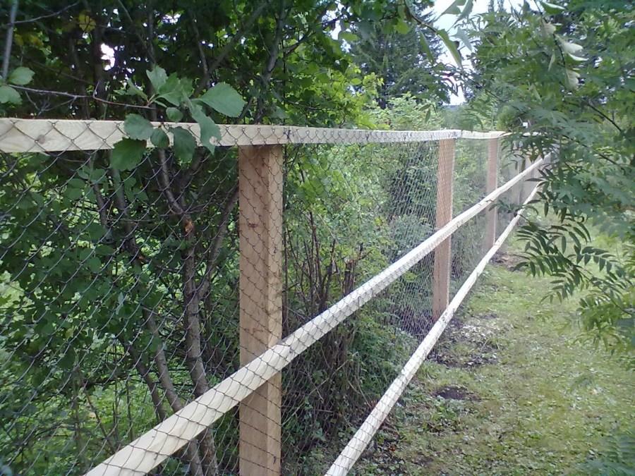 Забор из сетки рабицы