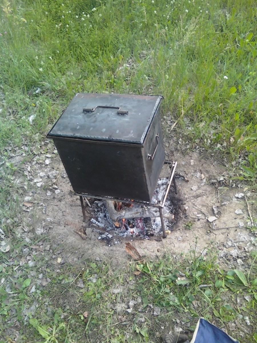 Коптильня горячего копчения из металла своими руками фото 161
