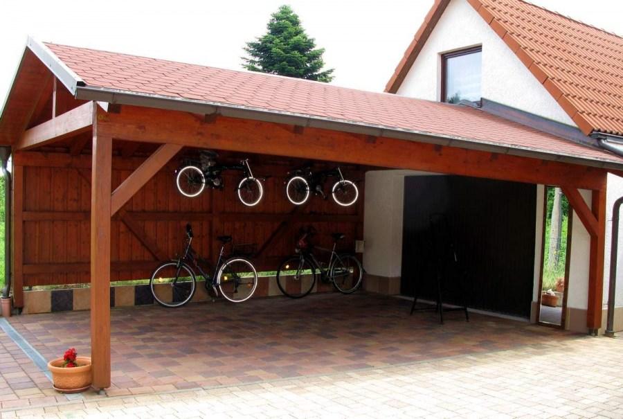 Фото гаражей в частных домах с навесом