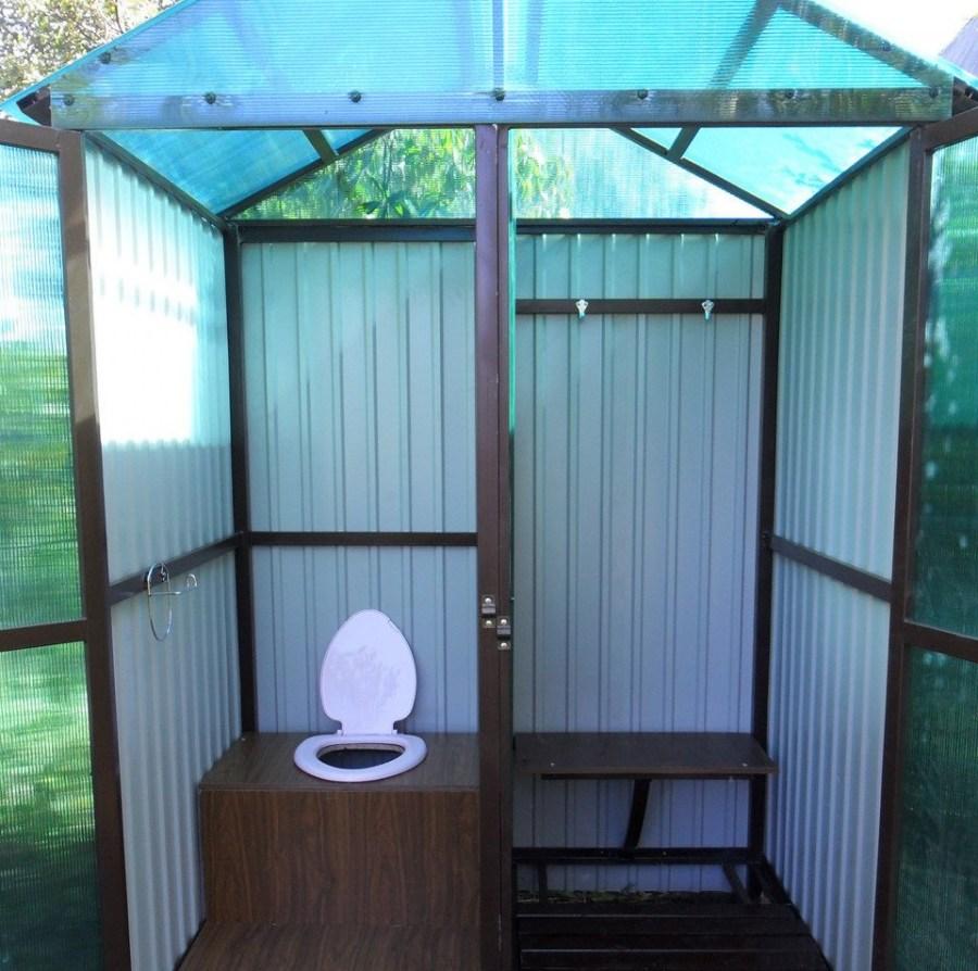 Как сделать простой туалет на даче своими руками фото