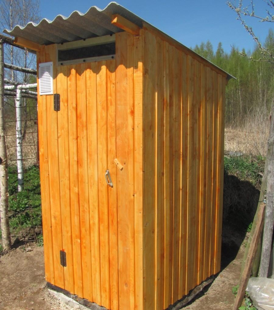 Как построить туалет на улице своими руками 38