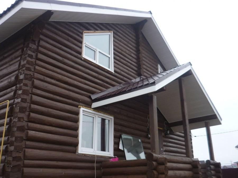 карниз деревянного дома фото