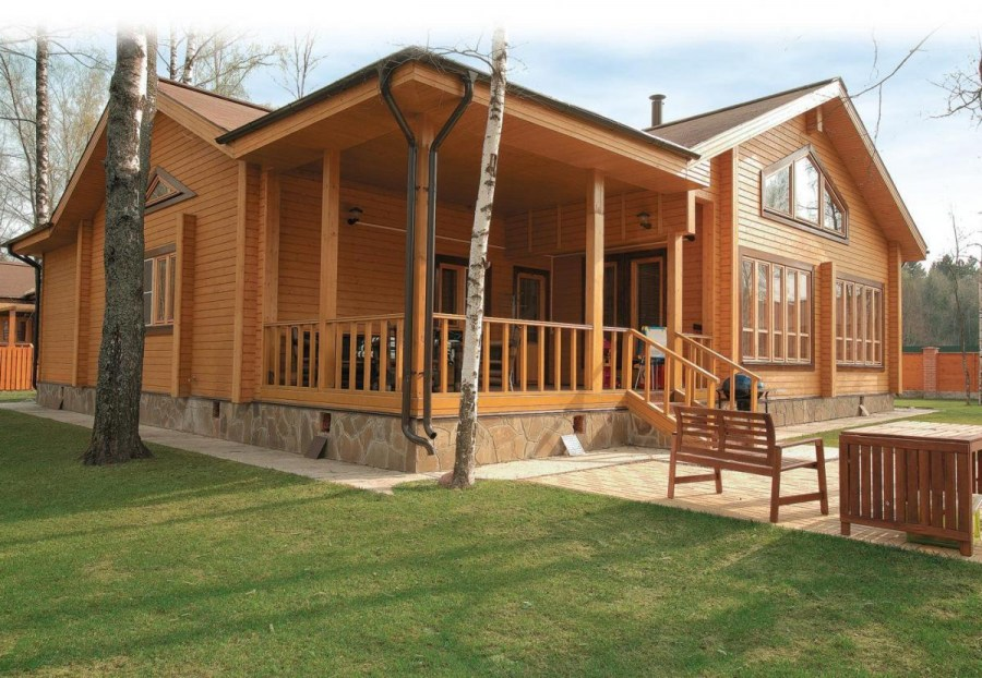 Как сделать современный деревянный дом из клееного 24